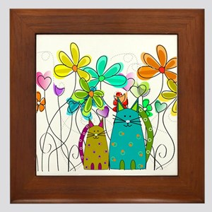 Spring Flowers 14 Framed Tile
