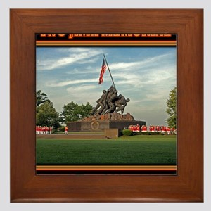 Iwo Jima Memorial Framed Tile