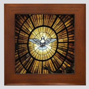 Dove Window at St Peters Basilica puzz Framed Tile