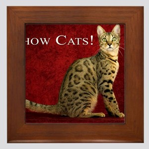 Show Cats Cover Framed Tile