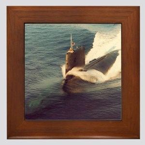 shark framed panel print Framed Tile
