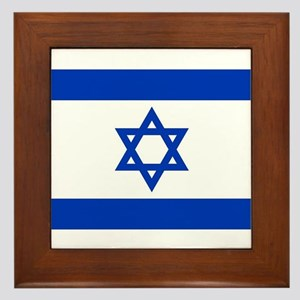 Flag of Israel, the Star of David Framed Tile