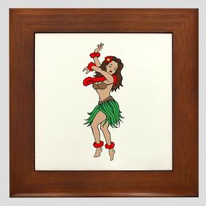 3fe870cdd746c Hawaiian Hula Dancer Tattoo Framed Tile