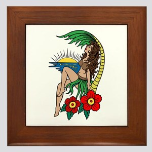 77fe09ad4 Hula Girl Tattoo Wall Art - CafePress