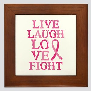 Live Love Fight Framed Tile