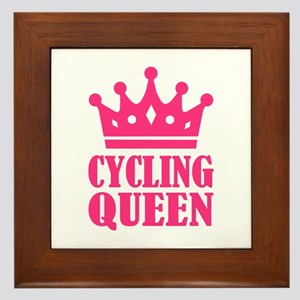 Cycling queen champion Framed Tile