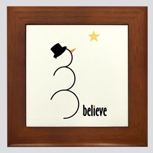 Believe Framed Tile