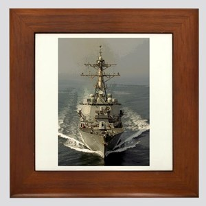 USS Churchill DDG-81 Framed Tile
