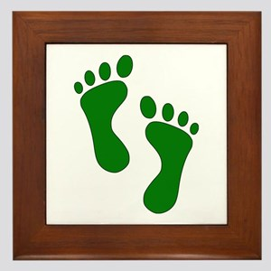 Green Feet Framed Tile