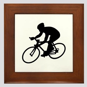 Cycling race Framed Tile