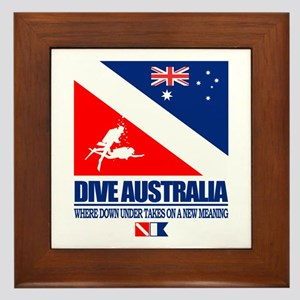 Dive Australia 2 Framed Tile