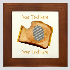 YOUR FACE Grilled Cheese Sandwich Framed Tile