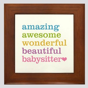 Babysitter - Amazing Awesome Framed Tile