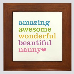 Nanny - Amazing Awesome Framed Tile
