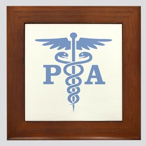 Caduceus PA (blue) Framed Tile