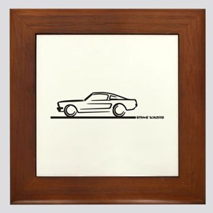 Mustang 64 to 66 Fastback Framed Tile