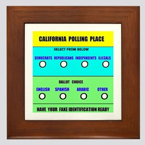 CALIFORNIA VOTERS Framed Tile