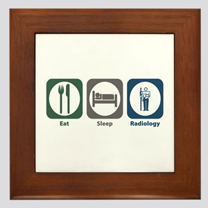 Eat Sleep Radiology Framed Tile