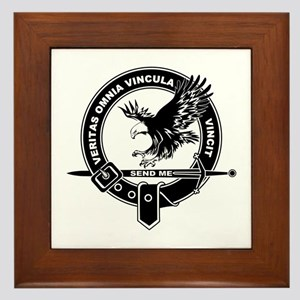 SAD Unit Crest B-W Framed Tile
