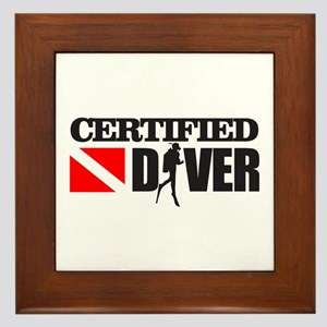 Certified Diver Framed Tile