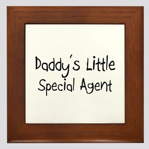 Daddy's Little Special Agent Framed Tile