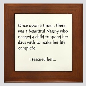 THE STORY OF NANNY Framed Tile