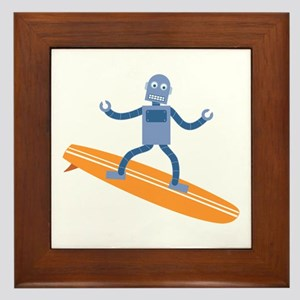 Surfing Robot Framed Tile
