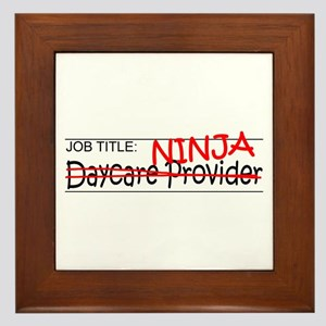 Job Ninja Daycare Framed Tile