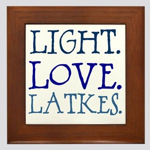 Light. Love. Latkes. Framed Tile