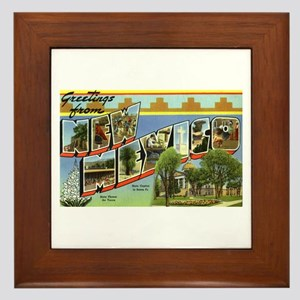Greetings from New Mexico Framed Tile