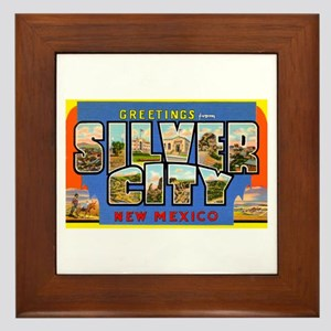 Silver City New Mexico Greetings Framed Tile