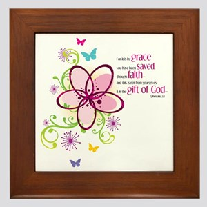 For it is by Grace you have been Saved Framed Tile