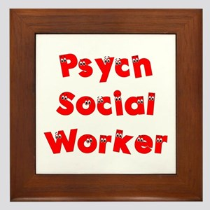 Psych Social Worker Framed Tile