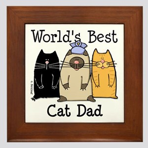 World's Best Cat Dad Framed Tile