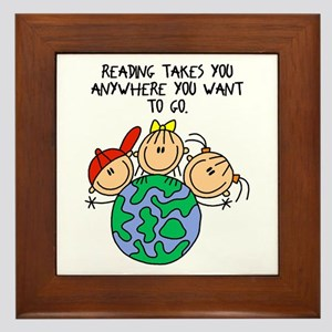 Reading Can Take You Framed Tile