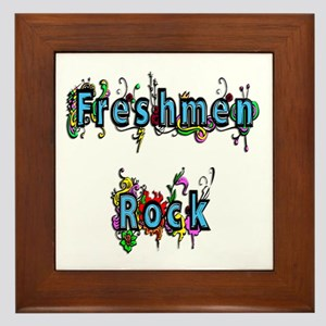 Freshmen Rock Framed Tile