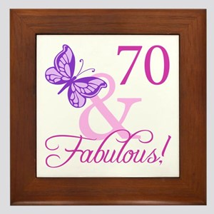 70 & Fabulous (Plumb) Framed Tile