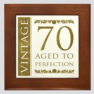 Fancy Vintage 70th Birthday Framed Tile