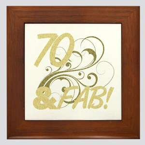 70 And Fabulous (Glitter) Framed Tile