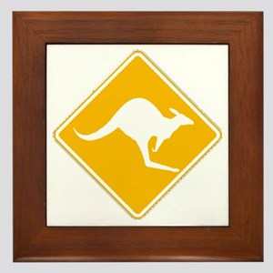 Roo Sign Framed Tile