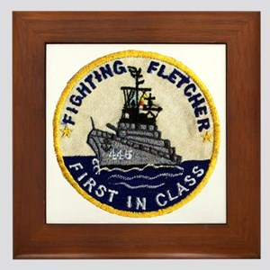 USS FLETCHER Framed Tile