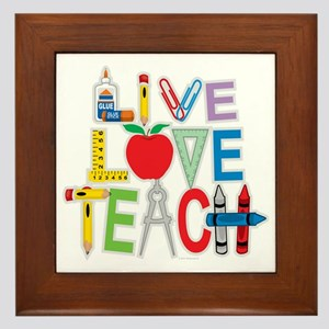 Live-Love-Teach Framed Tile