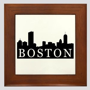 Boston Skyline Framed Tile