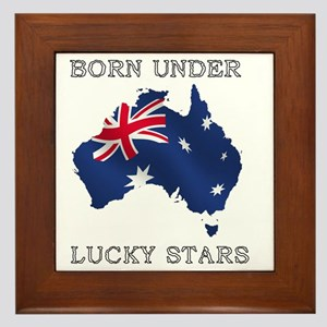 lucky stars 5 Framed Tile