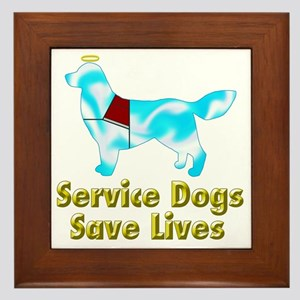 Service Dogs Save Lives Framed Tile