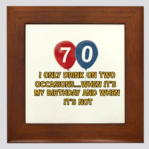 70 year old birthday designs Framed Tile
