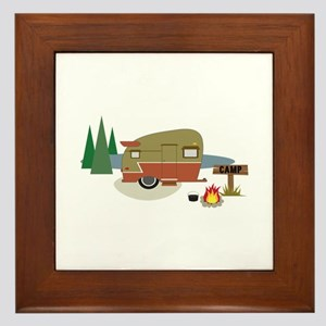Camping Trailer Framed Tile