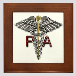 PA Medical Symbol Framed Tile