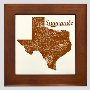 Sunnyvale, Texas (Search Any City!) Framed Tile