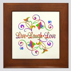 Live Laugh Love Flourish Framed Tile